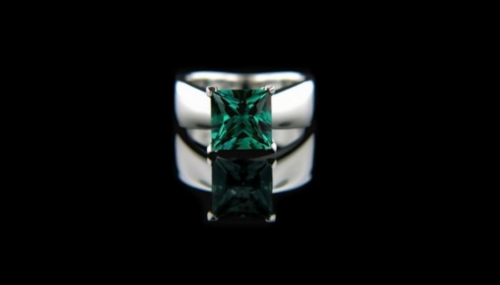 smaragd ring witgoud